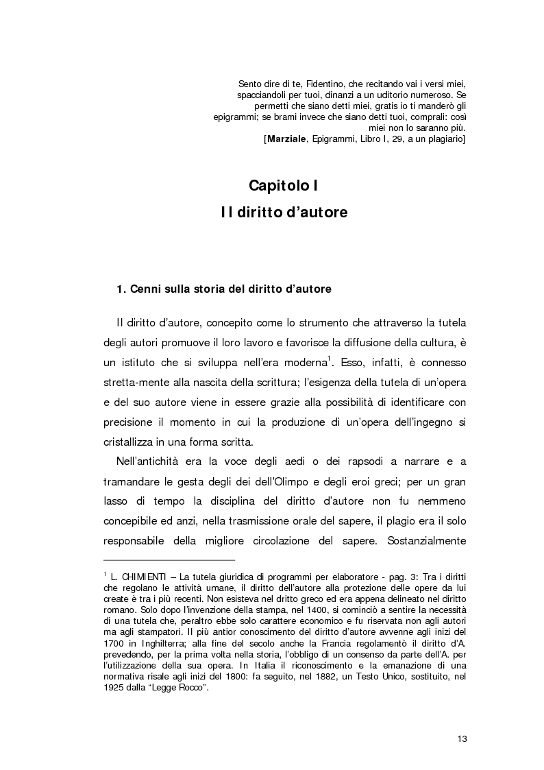 Anteprima della tesi: Il diritto d'autore in Internet, Pagina 4