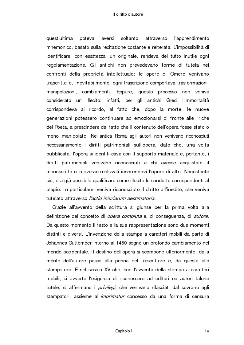 Anteprima della tesi: Il diritto d'autore in Internet, Pagina 5