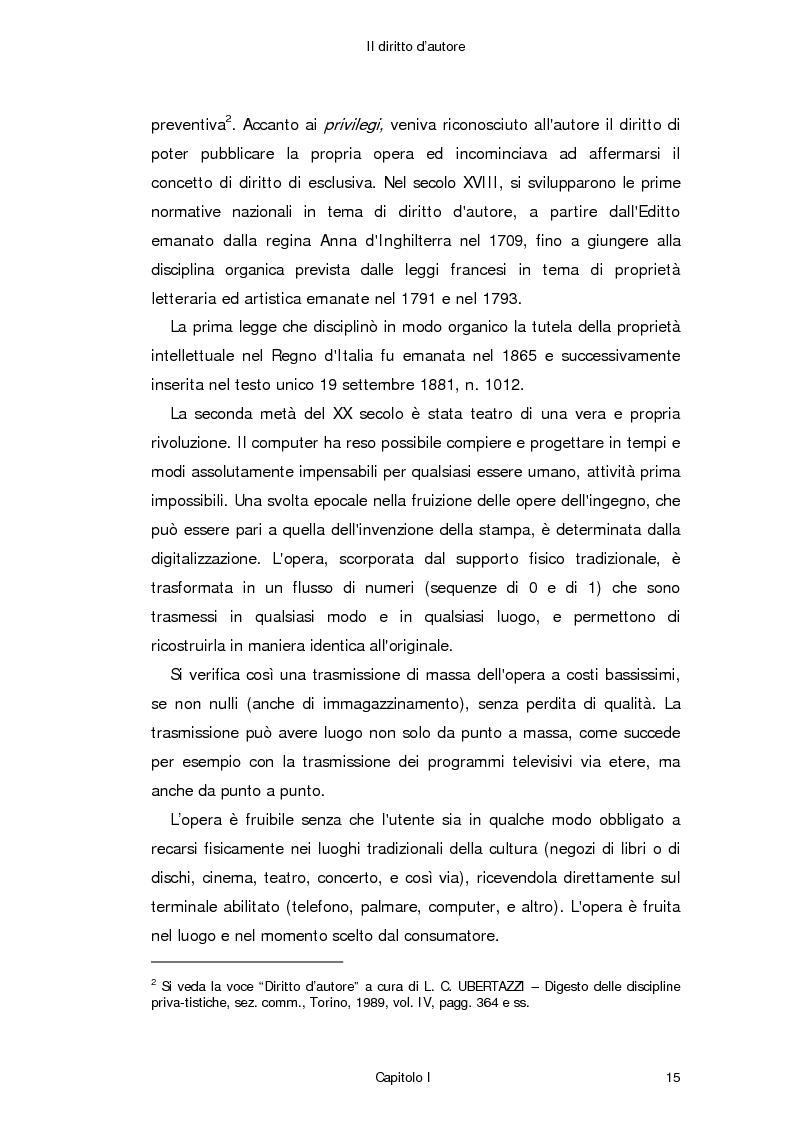 Anteprima della tesi: Il diritto d'autore in Internet, Pagina 6