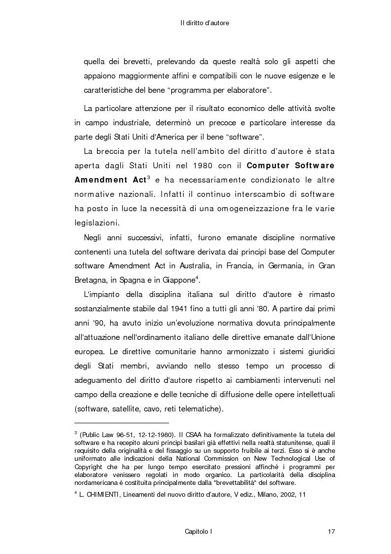 Anteprima della tesi: Il diritto d'autore in Internet, Pagina 8