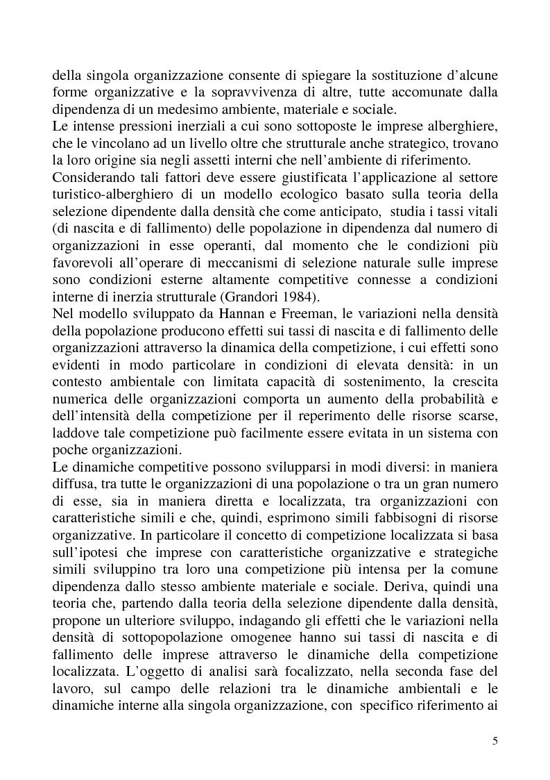 """Anteprima della tesi: """"Isomorfismo ed adattamento organizzativo; l'applicazione alla popolazione d'alberghi della Val Badia e del Bacino Termale Euganeo""""., Pagina 2"""