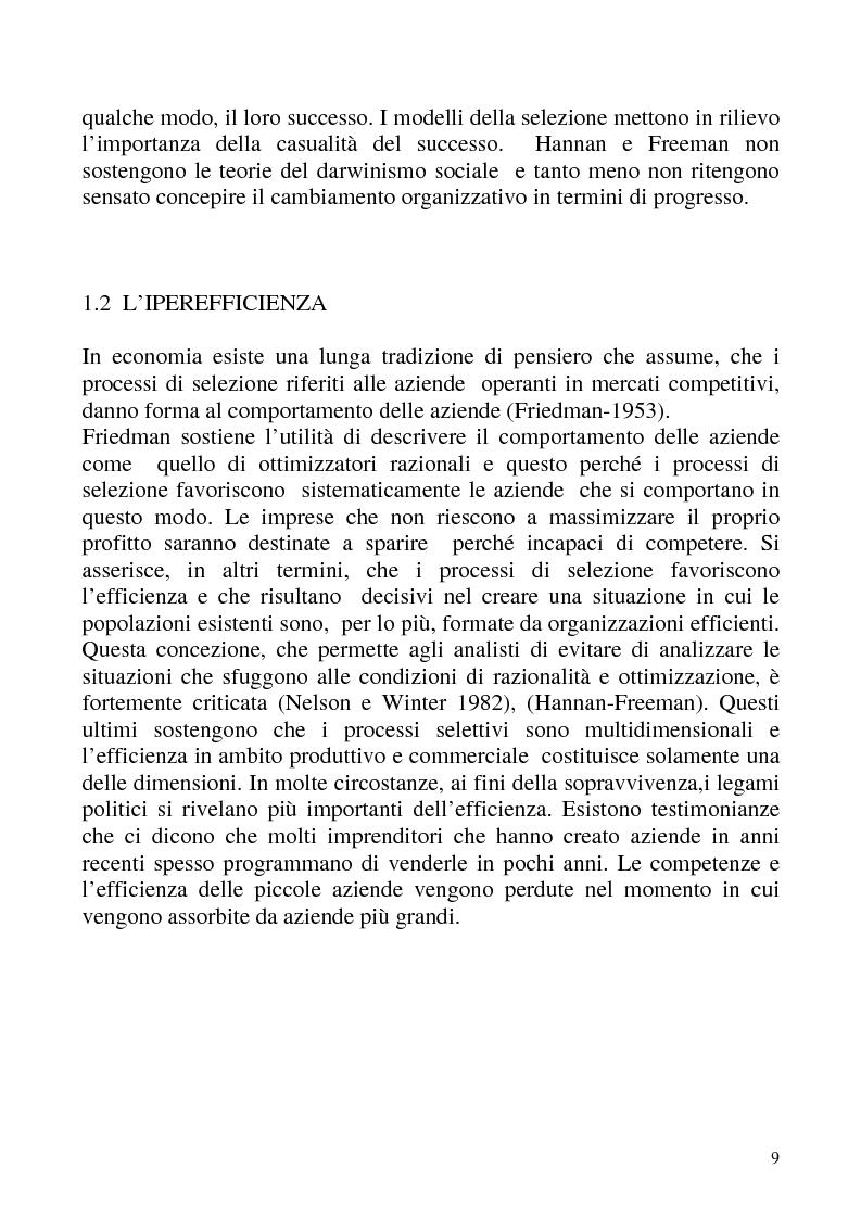 """Anteprima della tesi: """"Isomorfismo ed adattamento organizzativo; l'applicazione alla popolazione d'alberghi della Val Badia e del Bacino Termale Euganeo""""., Pagina 6"""
