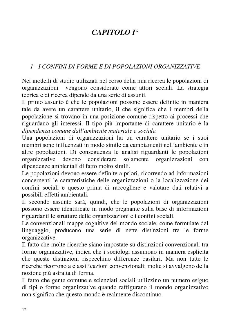 """Anteprima della tesi: """"Isomorfismo ed adattamento organizzativo; l'applicazione alla popolazione d'alberghi della Val Badia e del Bacino Termale Euganeo""""., Pagina 9"""