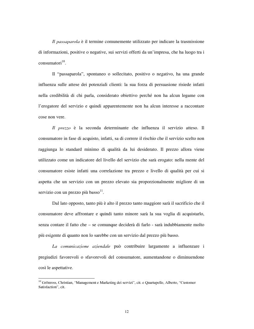 Anteprima della tesi: Approccio tradizionale e nuove tendenze nella Customer Satisfaction, Pagina 12