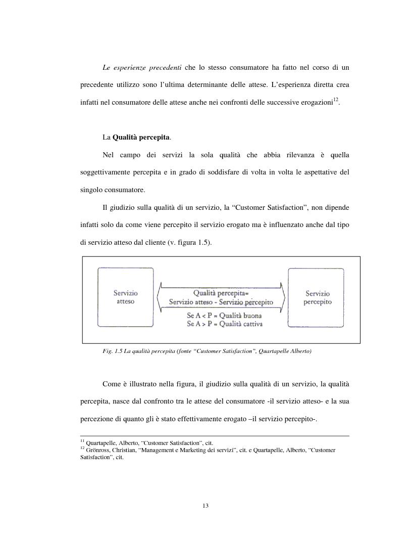 Anteprima della tesi: Approccio tradizionale e nuove tendenze nella Customer Satisfaction, Pagina 13