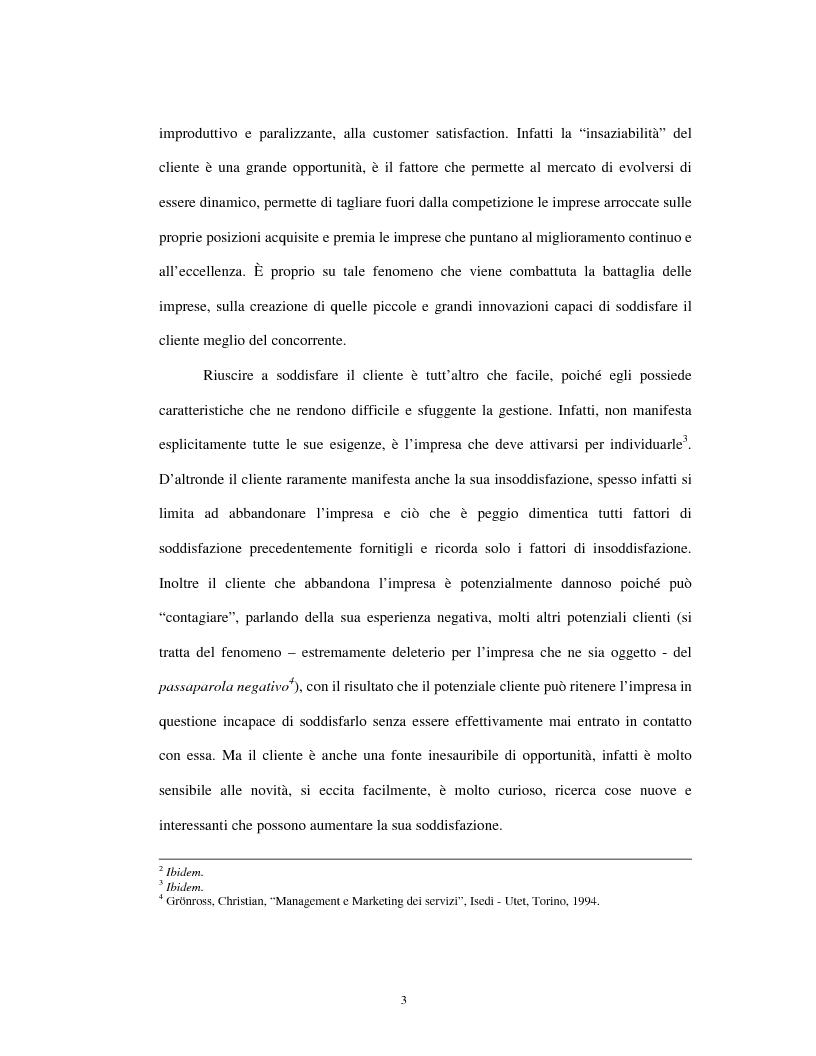 Anteprima della tesi: Approccio tradizionale e nuove tendenze nella Customer Satisfaction, Pagina 3