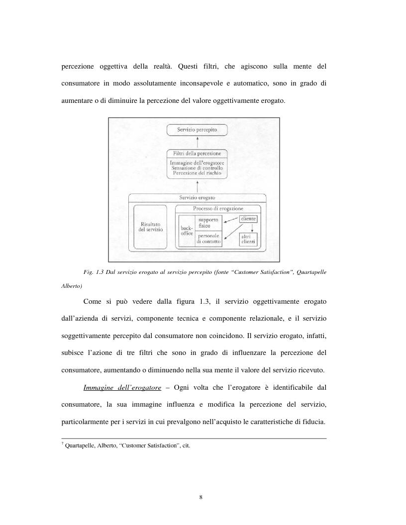 Anteprima della tesi: Approccio tradizionale e nuove tendenze nella Customer Satisfaction, Pagina 8