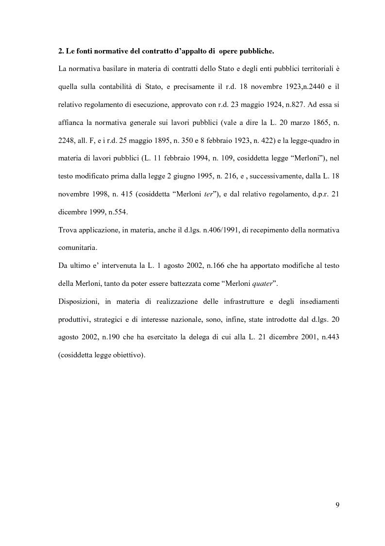Anteprima della tesi: I contratti d'appalto di opere pubbliche: profili problematici attinenti alle ipotesi di invalidità e nuove prospettive nel risarcimento del danno alle imprese., Pagina 10