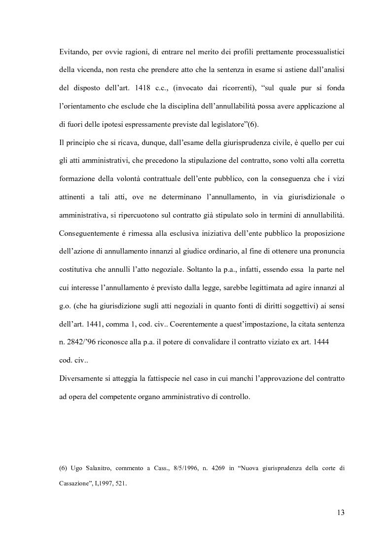 Anteprima della tesi: I contratti d'appalto di opere pubbliche: profili problematici attinenti alle ipotesi di invalidità e nuove prospettive nel risarcimento del danno alle imprese., Pagina 14