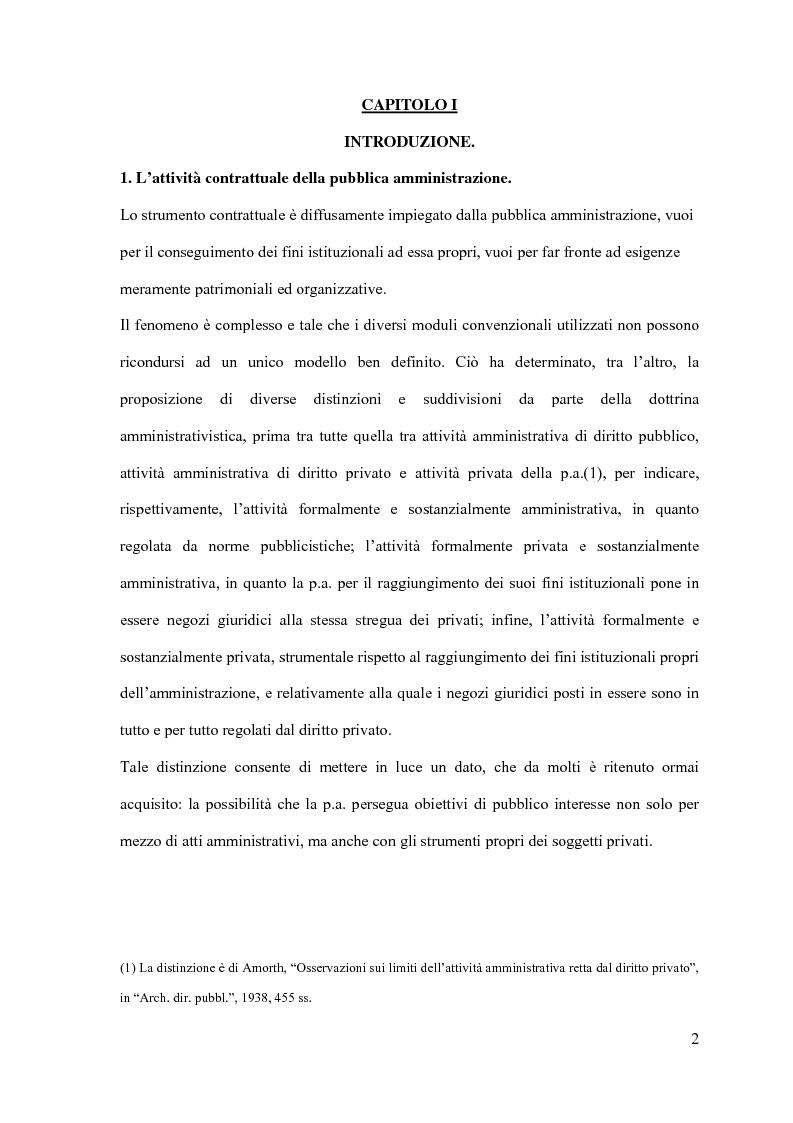 Anteprima della tesi: I contratti d'appalto di opere pubbliche: profili problematici attinenti alle ipotesi di invalidità e nuove prospettive nel risarcimento del danno alle imprese., Pagina 3