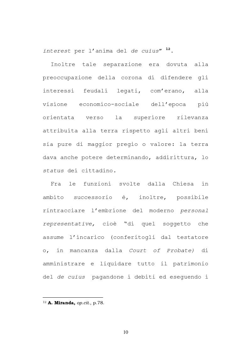 Anteprima della tesi: Il testamento inglese: il personal representative, Pagina 10