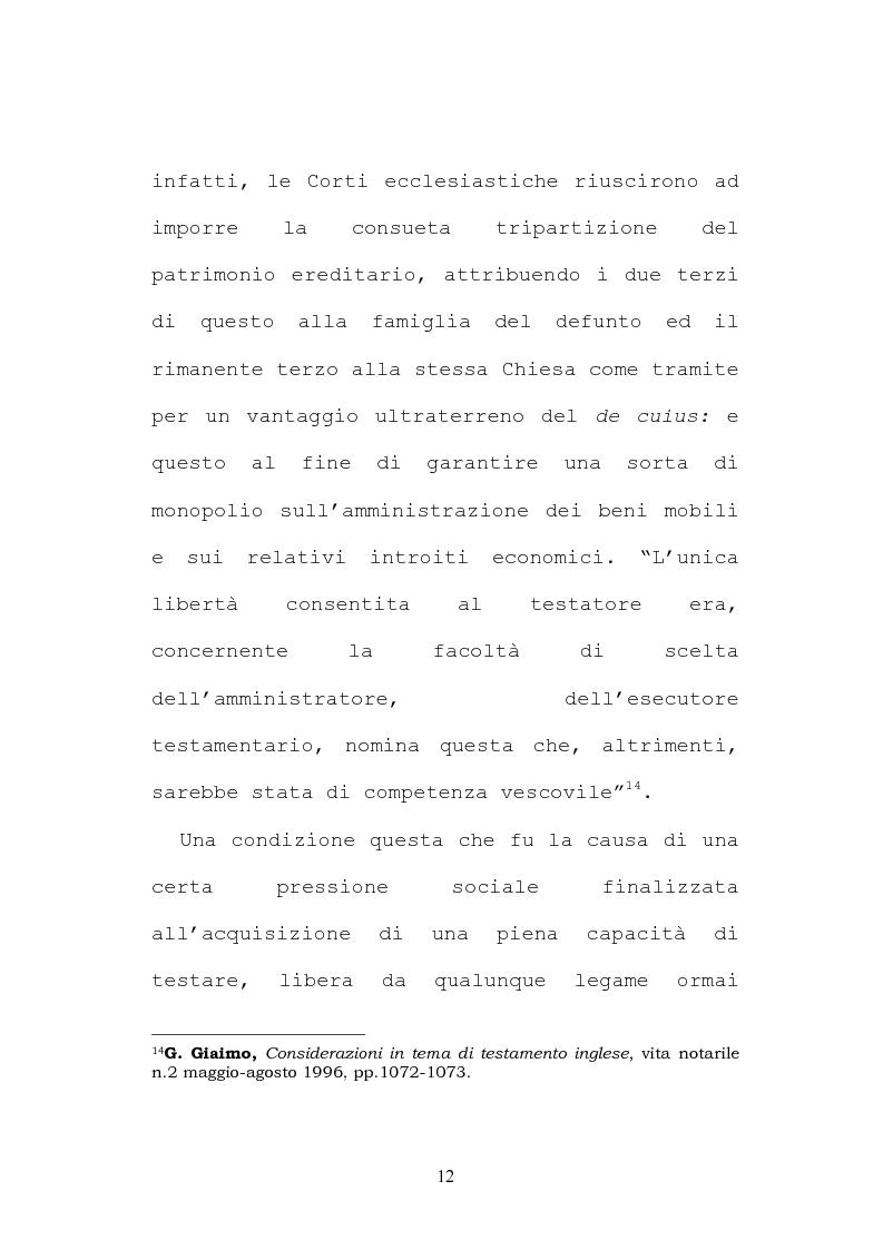 Anteprima della tesi: Il testamento inglese: il personal representative, Pagina 12