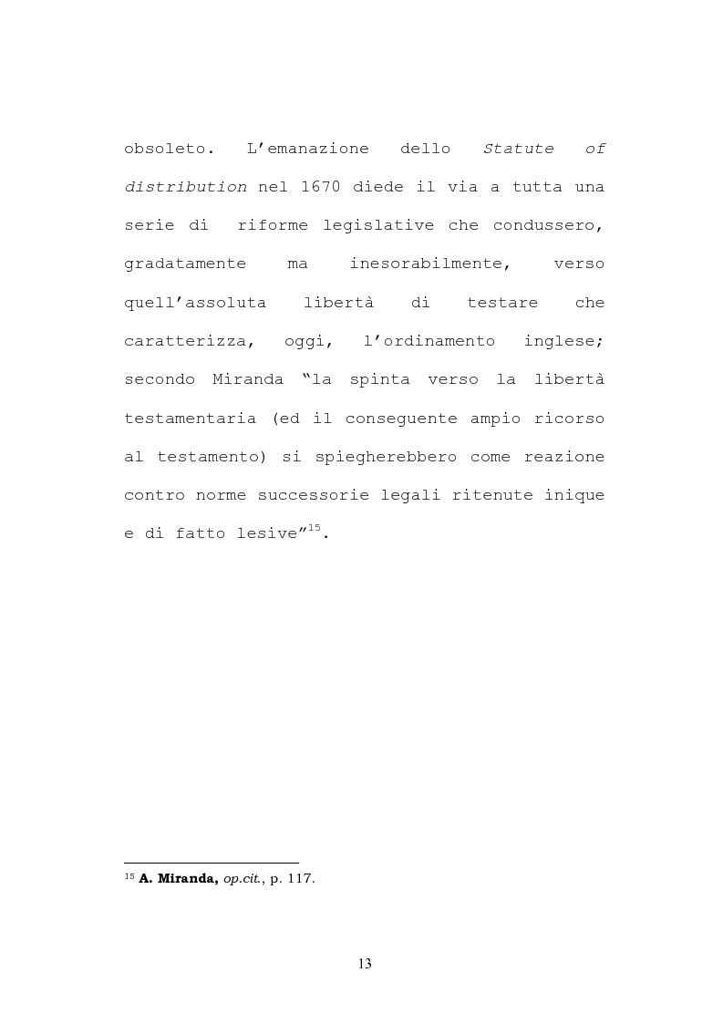 Anteprima della tesi: Il testamento inglese: il personal representative, Pagina 13