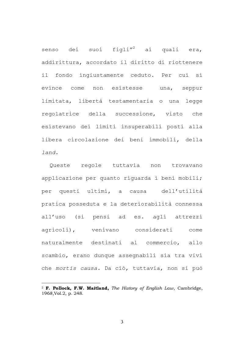 Anteprima della tesi: Il testamento inglese: il personal representative, Pagina 3