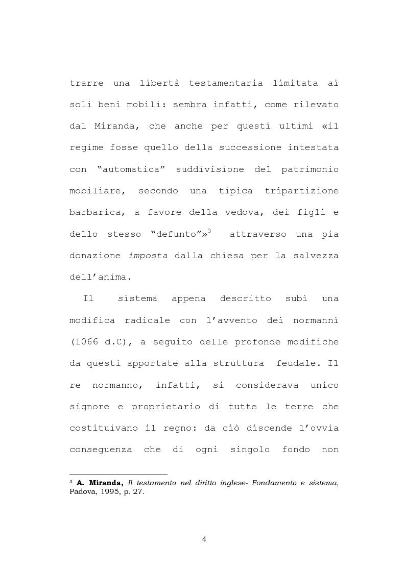 Anteprima della tesi: Il testamento inglese: il personal representative, Pagina 4