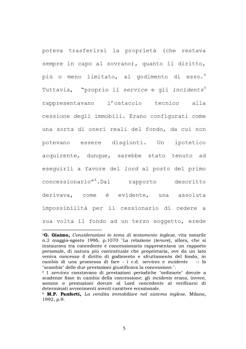 Anteprima della tesi: Il testamento inglese: il personal representative, Pagina 5