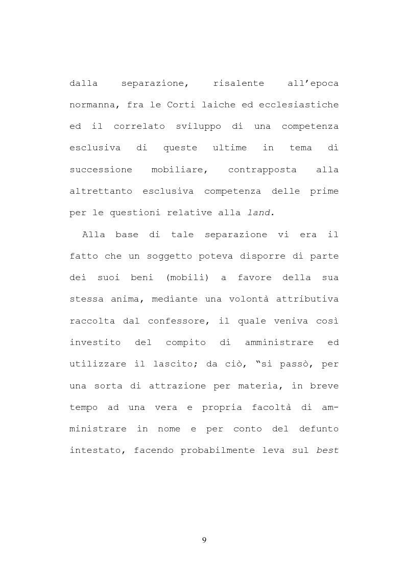 Anteprima della tesi: Il testamento inglese: il personal representative, Pagina 9