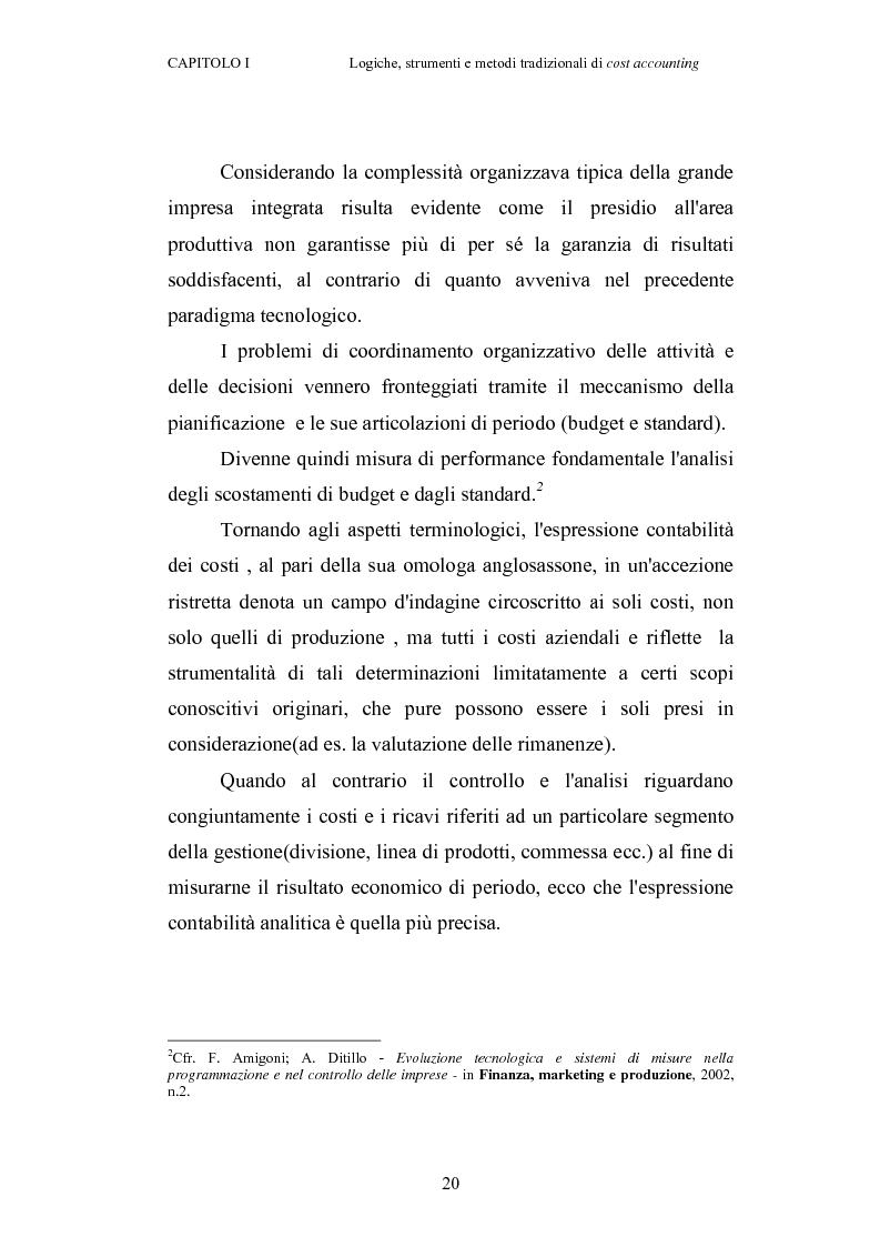 Anteprima della tesi: Il cost accounting come strumento di controllo direzionale negli enti locali. Il caso del Comune di Porto Torres, Pagina 13