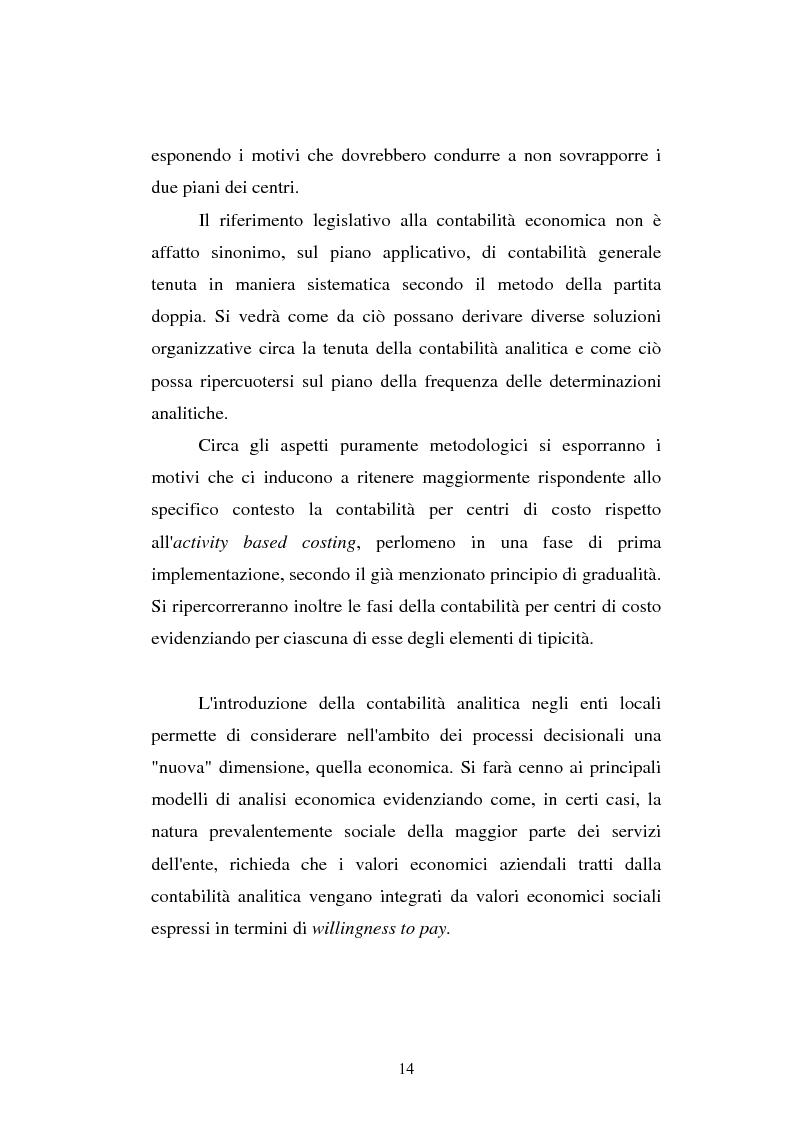 Anteprima della tesi: Il cost accounting come strumento di controllo direzionale negli enti locali. Il caso del Comune di Porto Torres, Pagina 7