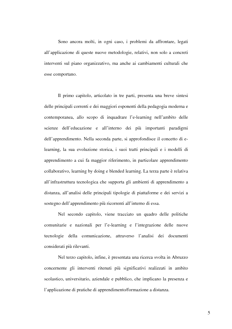 Anteprima della tesi: E-learning: apprendere con la rete. L'impiego dei nuovi media in ambito educativo-formativo, Pagina 3