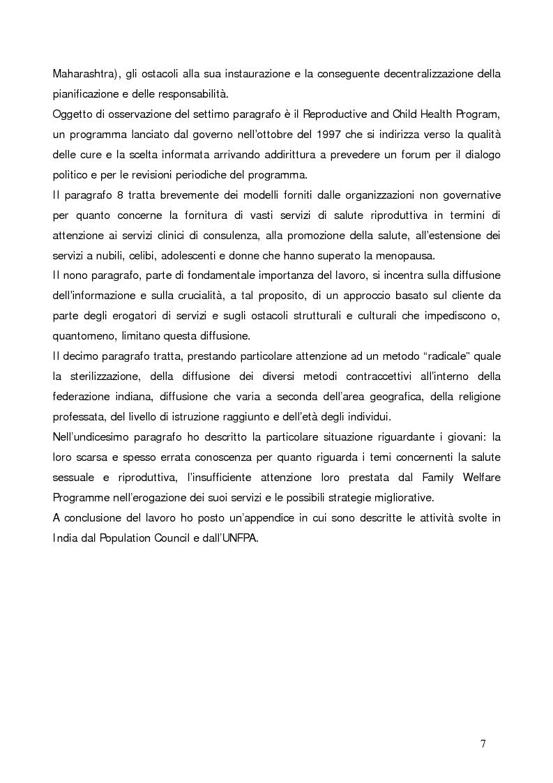 Anteprima della tesi: La questione demografica indiana: salute sessuale e riproduttiva e strategie di diffusione dell'informazione, Pagina 3