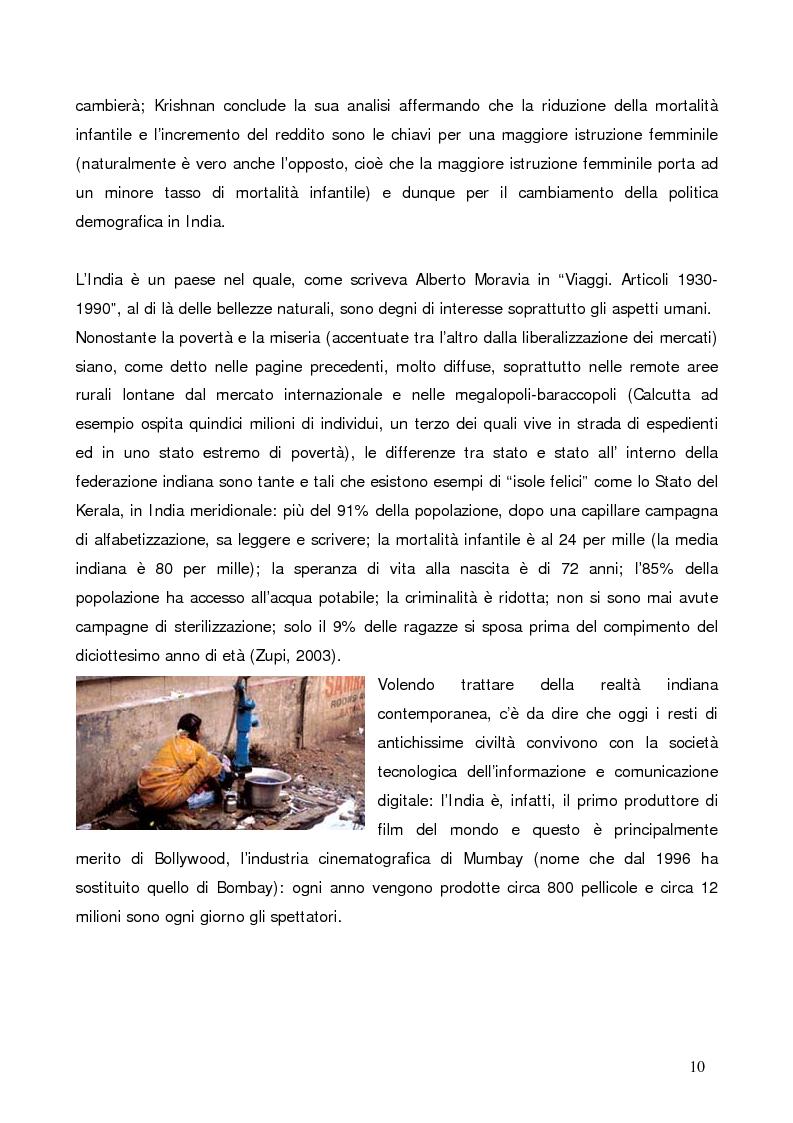 Anteprima della tesi: La questione demografica indiana: salute sessuale e riproduttiva e strategie di diffusione dell'informazione, Pagina 6