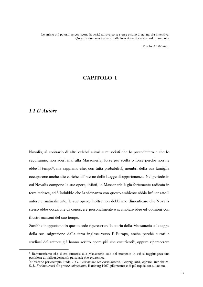 Anteprima della tesi: NOVALIS- Il maestro e i discepoli - Un cammino verso il tempio, Pagina 10