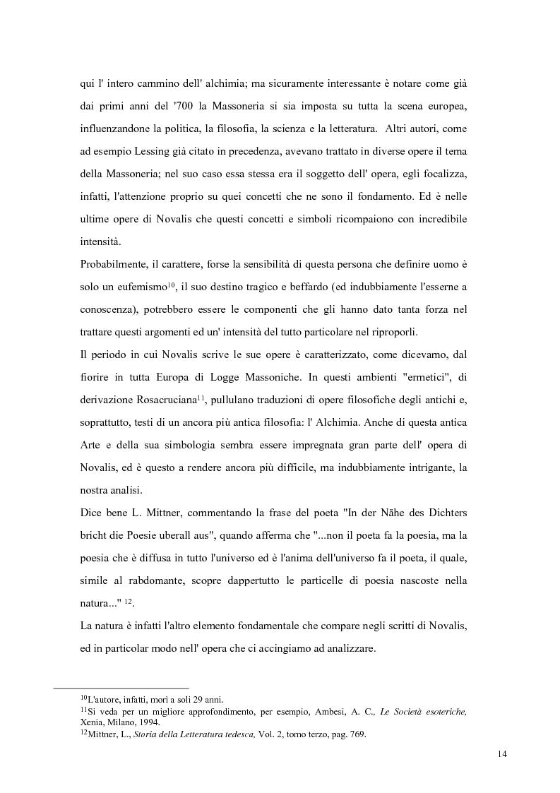 Anteprima della tesi: NOVALIS- Il maestro e i discepoli - Un cammino verso il tempio, Pagina 11