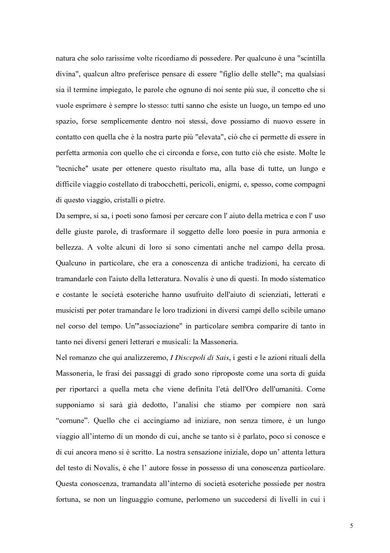 Anteprima della tesi: NOVALIS- Il maestro e i discepoli - Un cammino verso il tempio, Pagina 2