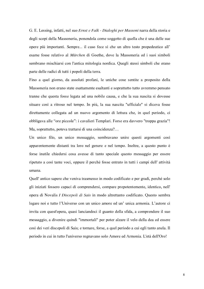 Anteprima della tesi: NOVALIS- Il maestro e i discepoli - Un cammino verso il tempio, Pagina 5