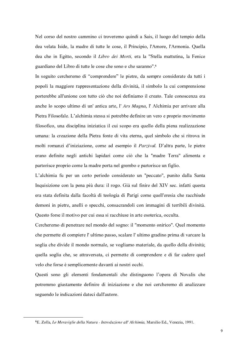 Anteprima della tesi: NOVALIS- Il maestro e i discepoli - Un cammino verso il tempio, Pagina 6