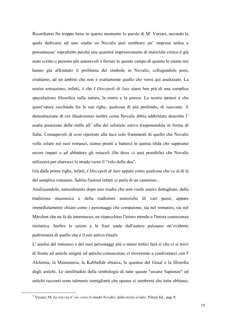 Anteprima della tesi: NOVALIS- Il maestro e i discepoli - Un cammino verso il tempio, Pagina 7