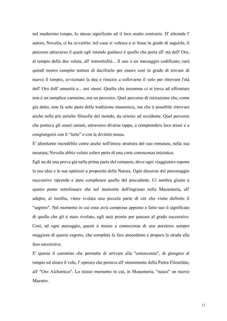 Anteprima della tesi: NOVALIS- Il maestro e i discepoli - Un cammino verso il tempio, Pagina 8