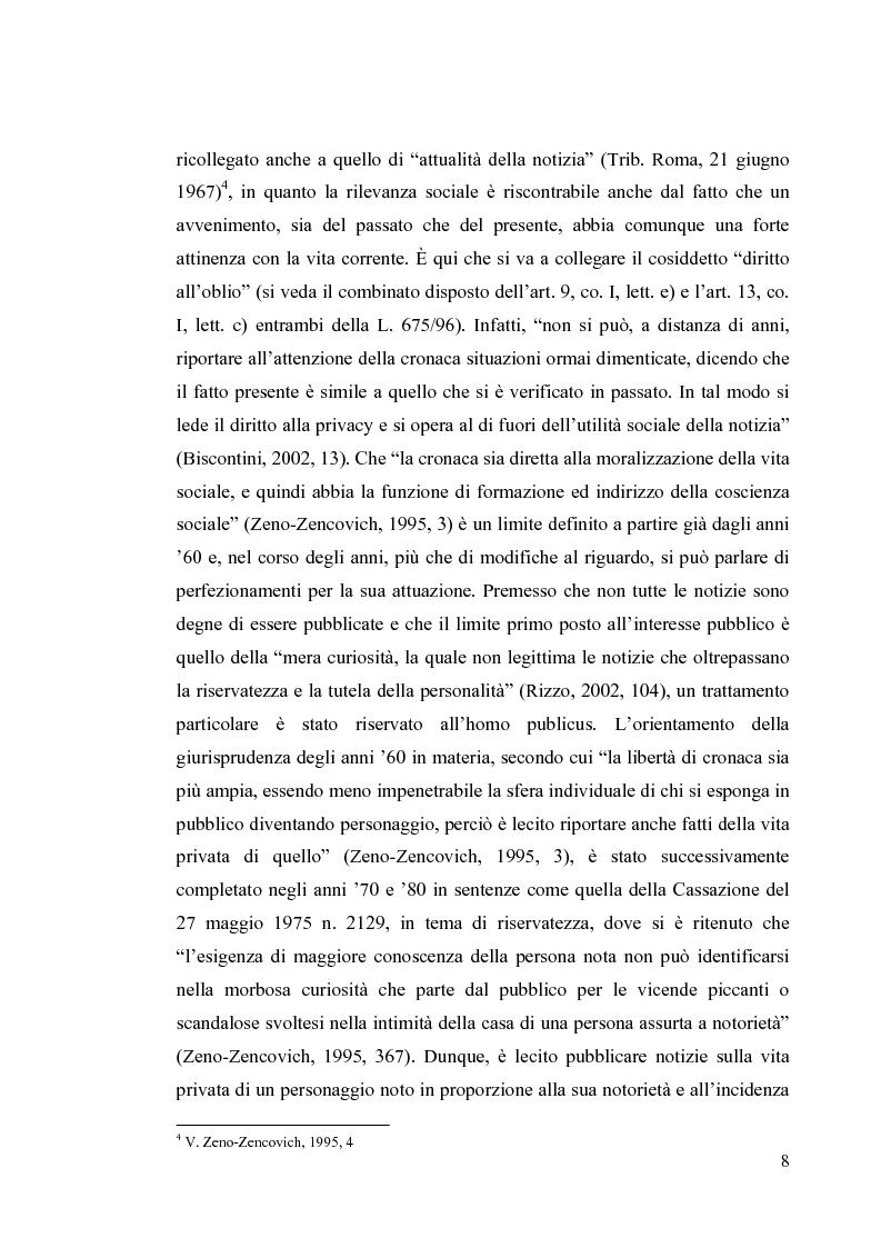 Anteprima della tesi: La diffamazione a mezzo stampa. Problemi e prospettive legislative, Pagina 10