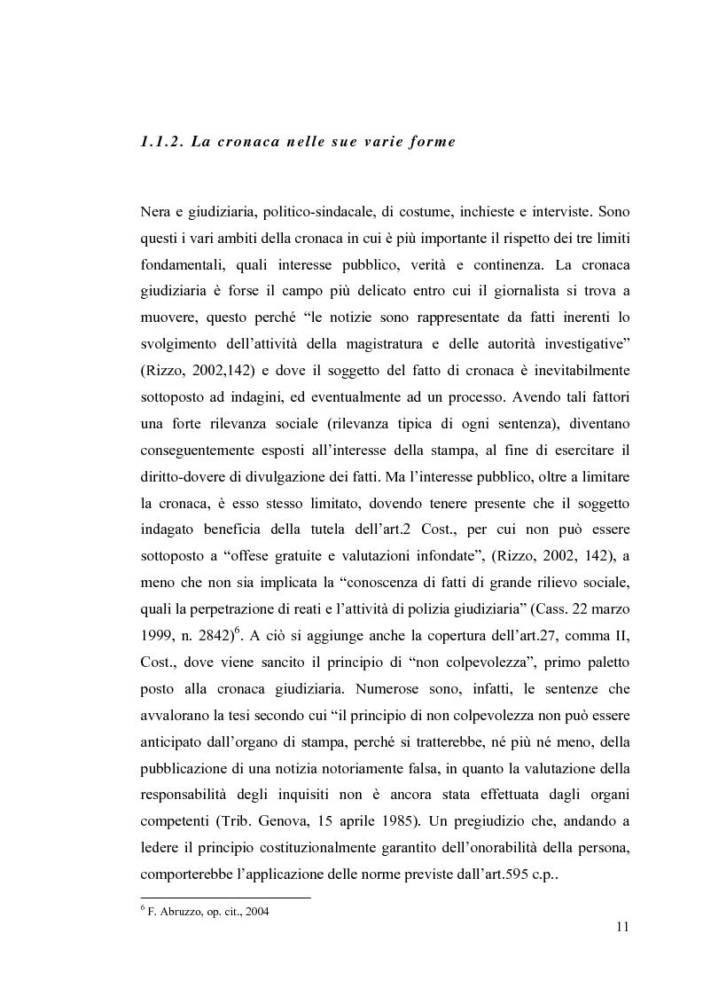 Anteprima della tesi: La diffamazione a mezzo stampa. Problemi e prospettive legislative, Pagina 13