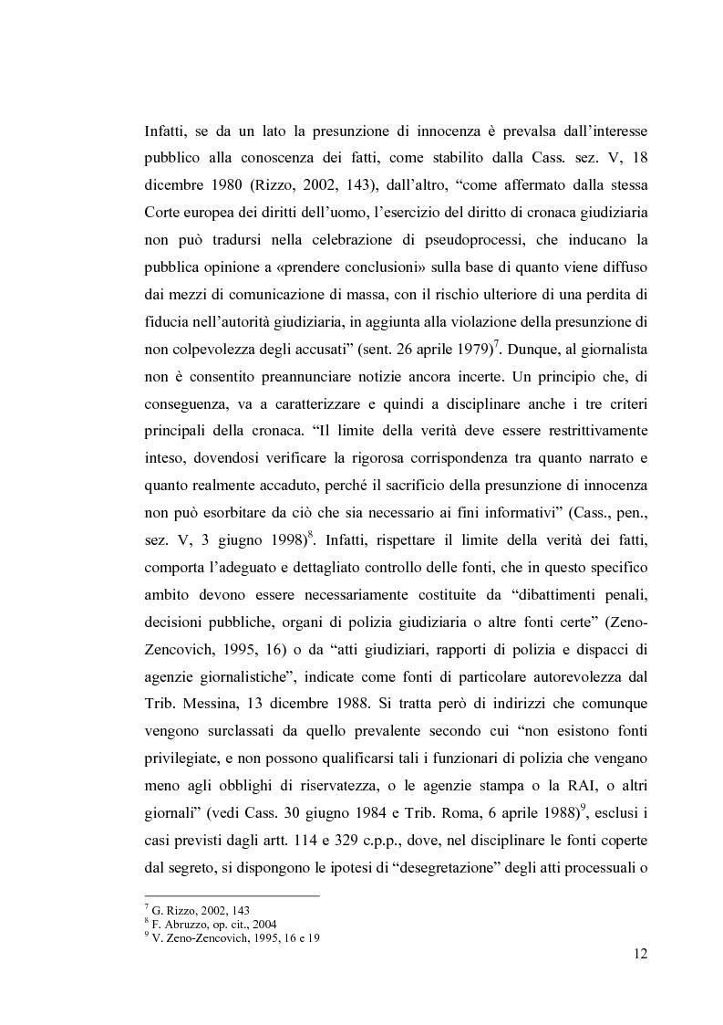 Anteprima della tesi: La diffamazione a mezzo stampa. Problemi e prospettive legislative, Pagina 14