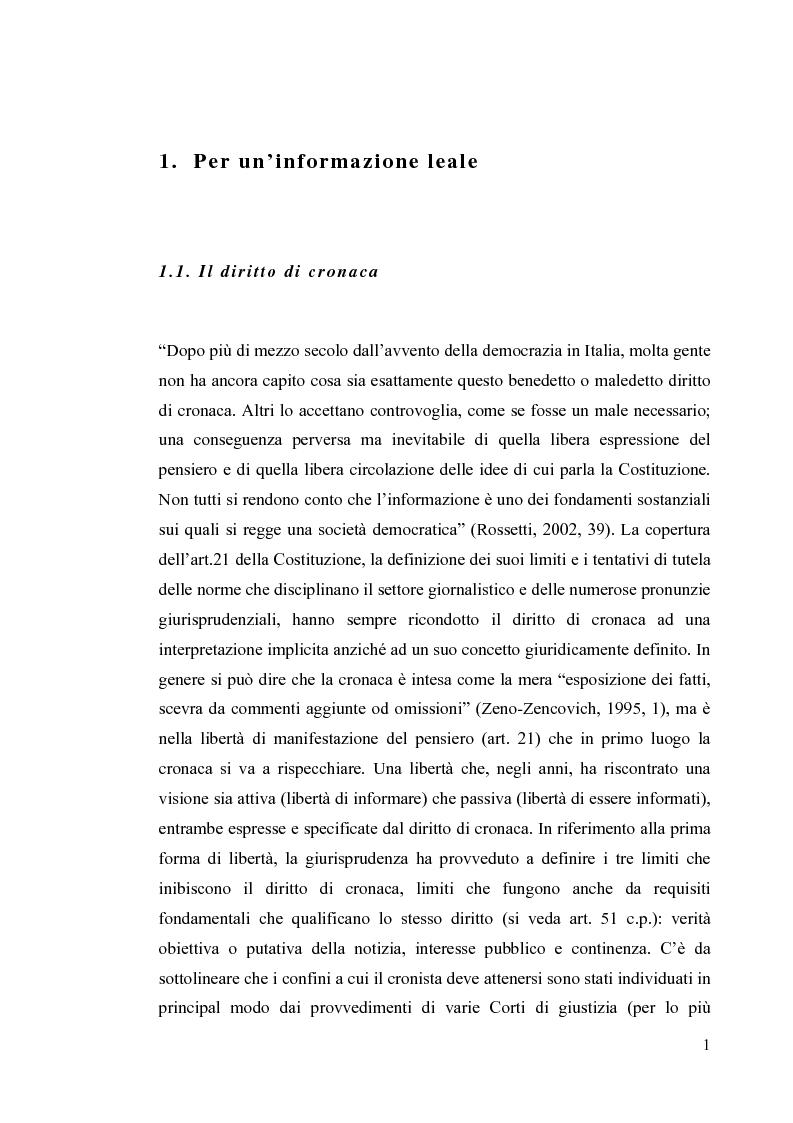 Anteprima della tesi: La diffamazione a mezzo stampa. Problemi e prospettive legislative, Pagina 3