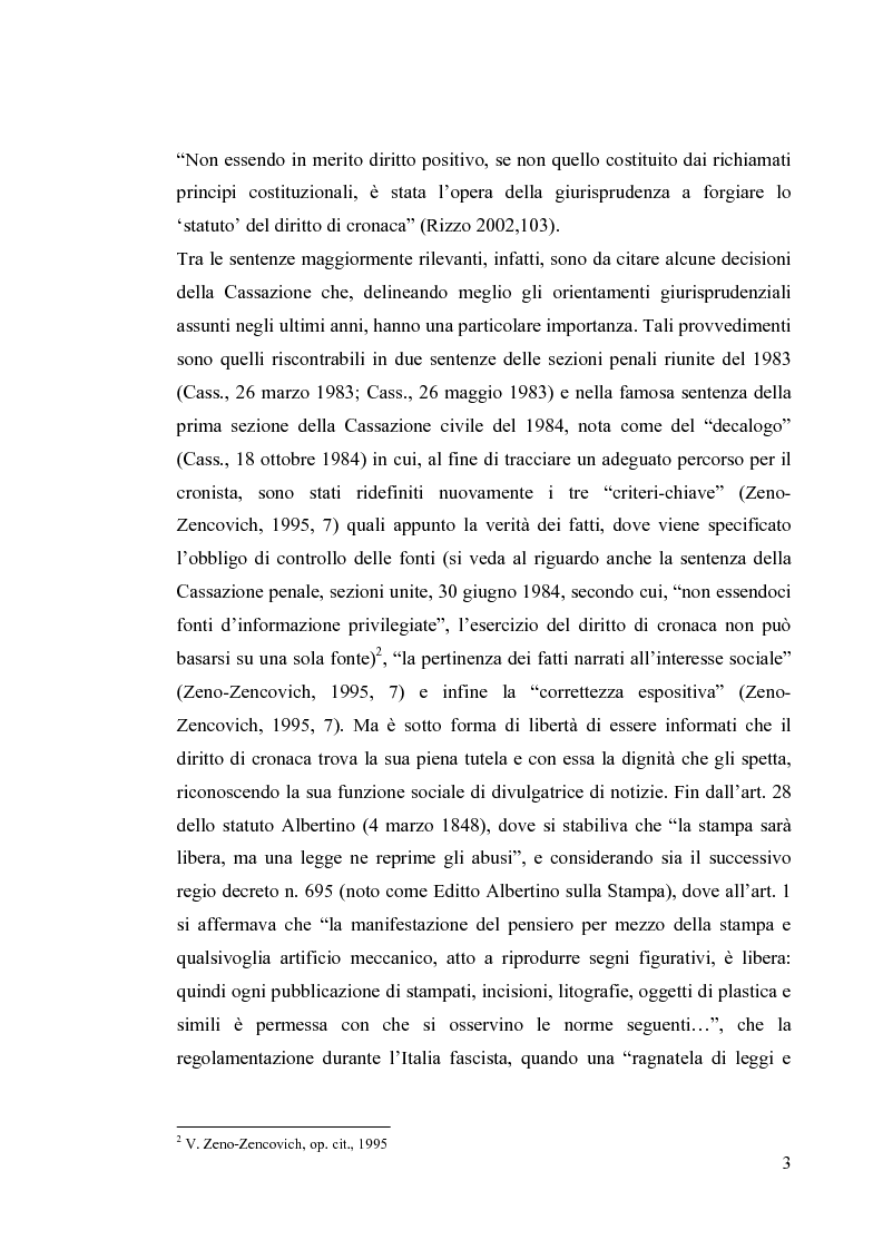 Anteprima della tesi: La diffamazione a mezzo stampa. Problemi e prospettive legislative, Pagina 5