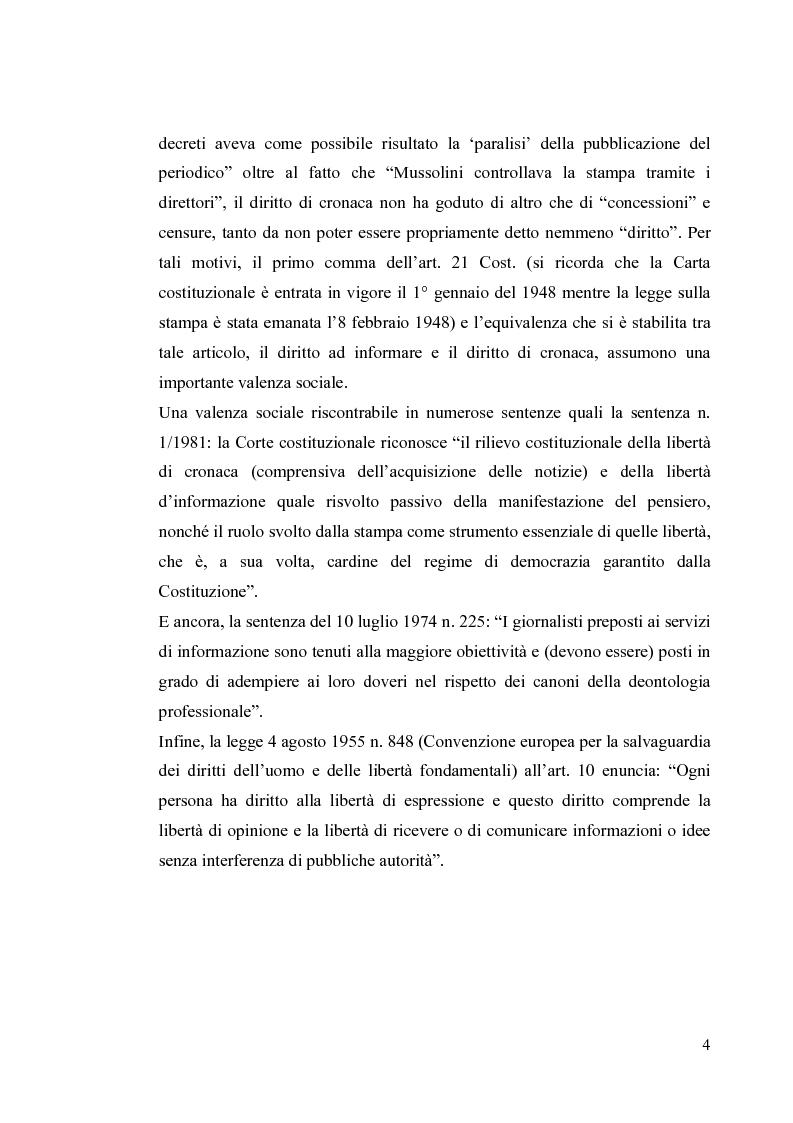 Anteprima della tesi: La diffamazione a mezzo stampa. Problemi e prospettive legislative, Pagina 6