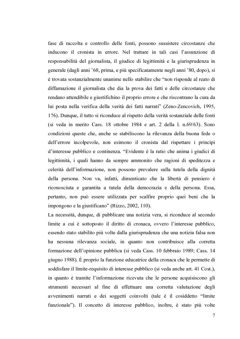 Anteprima della tesi: La diffamazione a mezzo stampa. Problemi e prospettive legislative, Pagina 9
