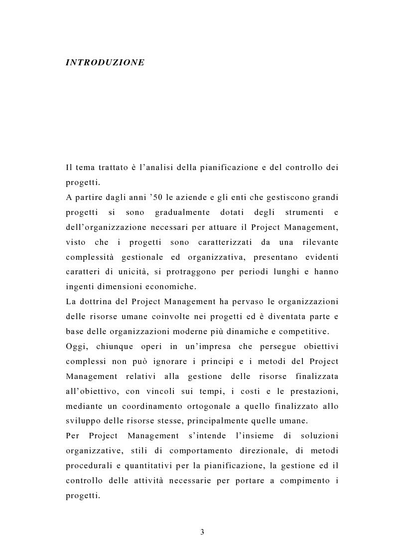 Anteprima della tesi: La pianificazione e il controllo dei grandi progetti. Il caso di un'impresa operante nel settore dell'impiantistica., Pagina 1