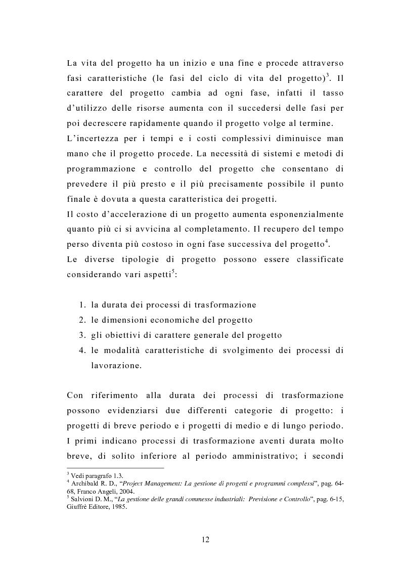 Anteprima della tesi: La pianificazione e il controllo dei grandi progetti. Il caso di un'impresa operante nel settore dell'impiantistica., Pagina 10
