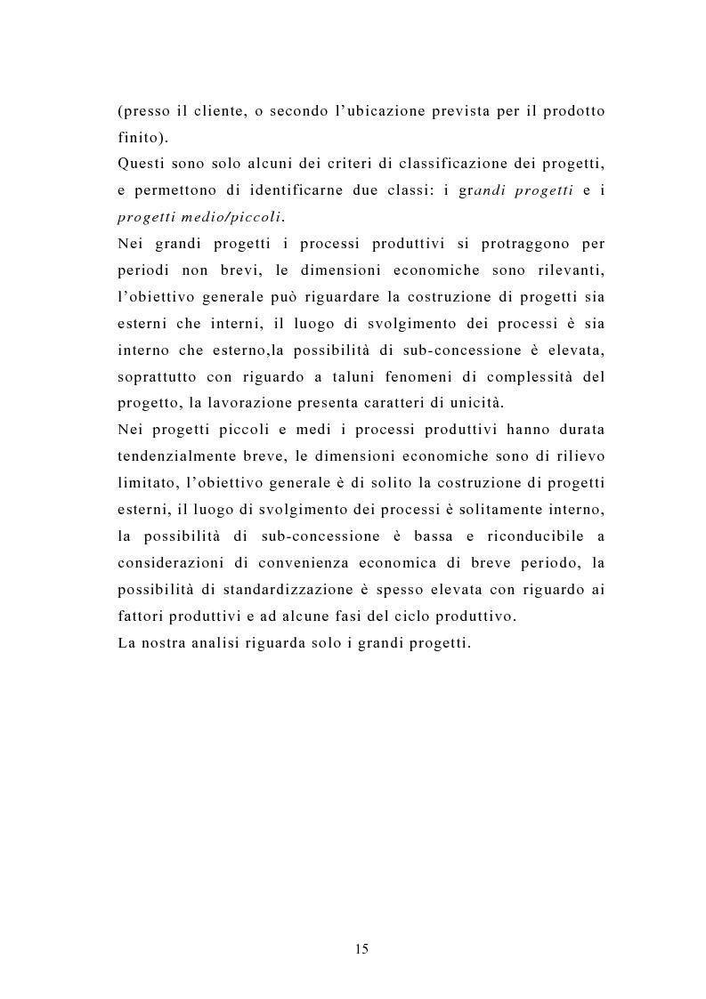 Anteprima della tesi: La pianificazione e il controllo dei grandi progetti. Il caso di un'impresa operante nel settore dell'impiantistica., Pagina 13