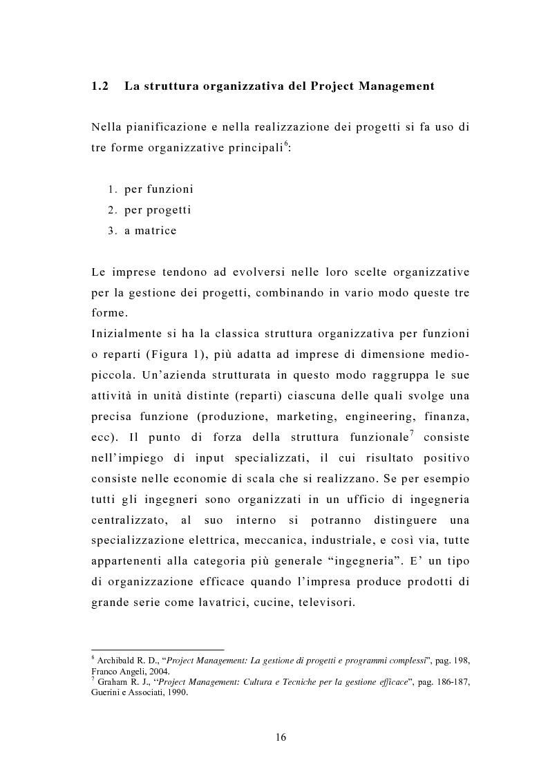 Anteprima della tesi: La pianificazione e il controllo dei grandi progetti. Il caso di un'impresa operante nel settore dell'impiantistica., Pagina 14