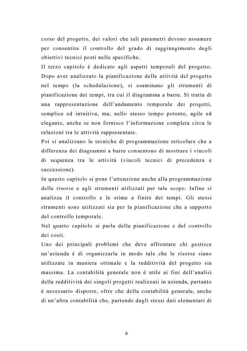 Anteprima della tesi: La pianificazione e il controllo dei grandi progetti. Il caso di un'impresa operante nel settore dell'impiantistica., Pagina 4