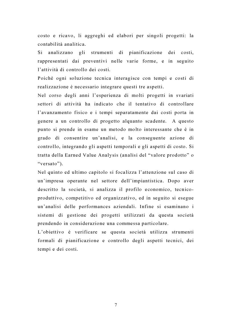 Anteprima della tesi: La pianificazione e il controllo dei grandi progetti. Il caso di un'impresa operante nel settore dell'impiantistica., Pagina 5