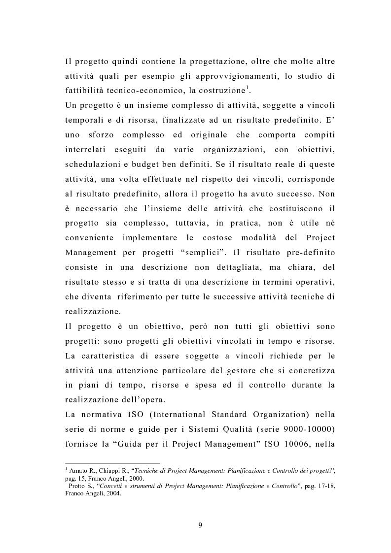 Anteprima della tesi: La pianificazione e il controllo dei grandi progetti. Il caso di un'impresa operante nel settore dell'impiantistica., Pagina 7