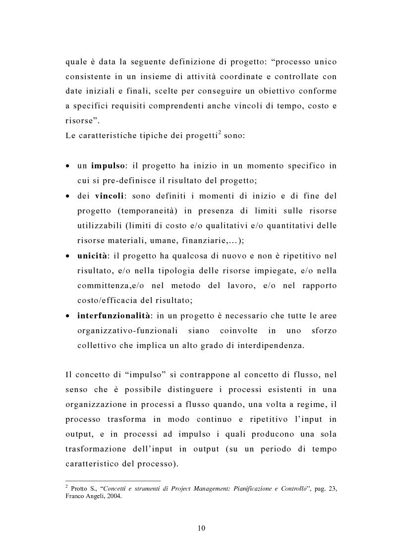 Anteprima della tesi: La pianificazione e il controllo dei grandi progetti. Il caso di un'impresa operante nel settore dell'impiantistica., Pagina 8