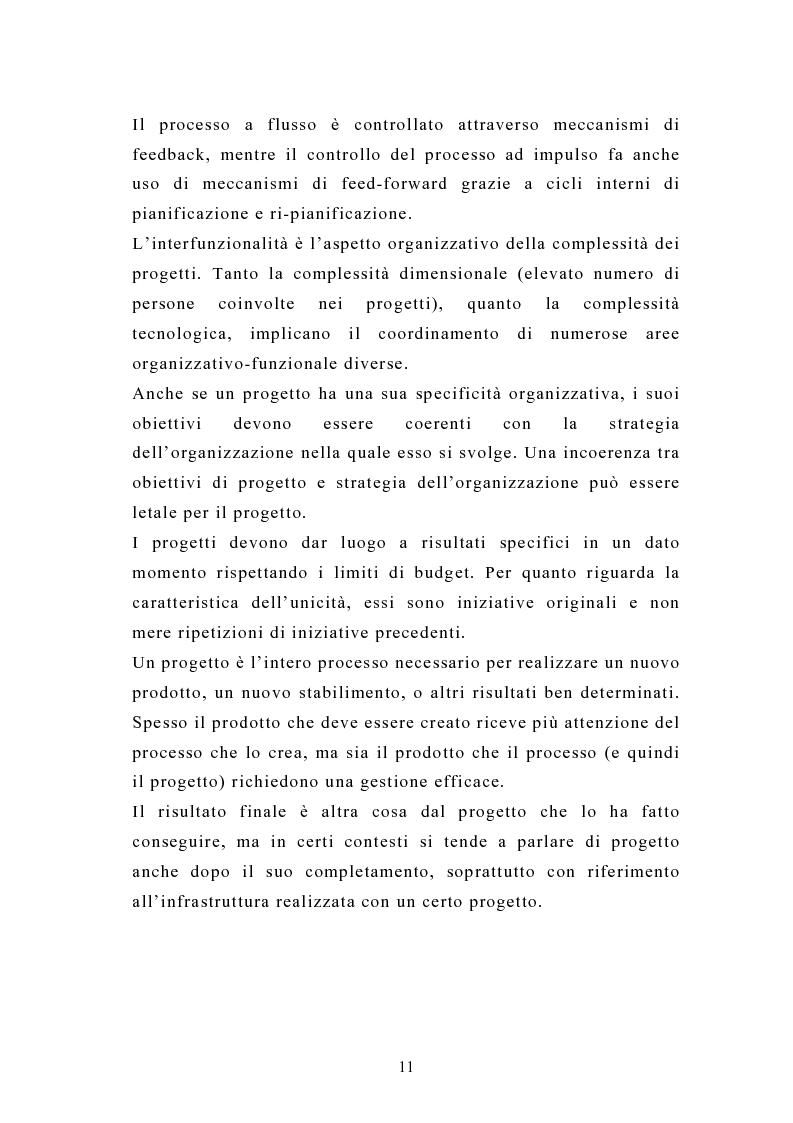 Anteprima della tesi: La pianificazione e il controllo dei grandi progetti. Il caso di un'impresa operante nel settore dell'impiantistica., Pagina 9