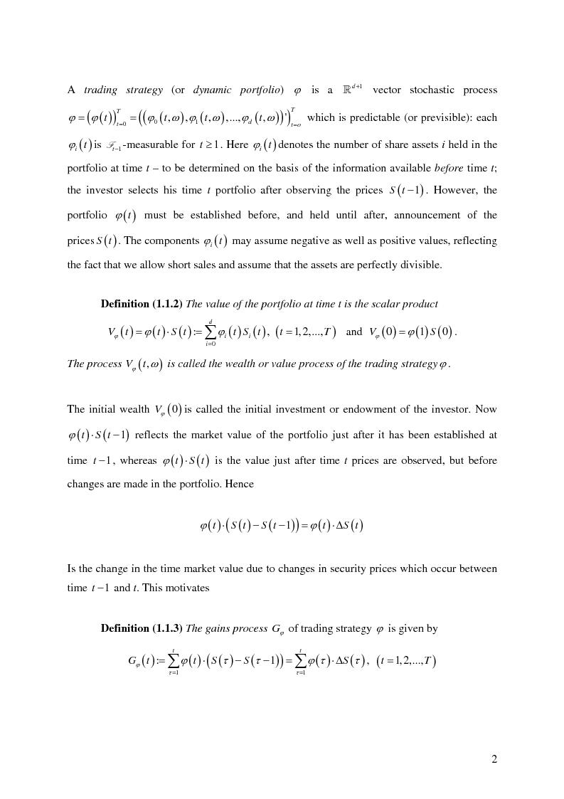 Anteprima della tesi: Valuation in Incomplete Markets, Pagina 4